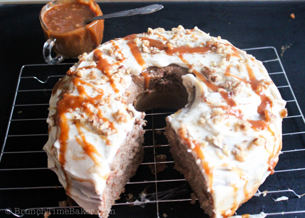 Moist Carrot Cake with Cream Cheese Frosting- BrunchTimebaker.com