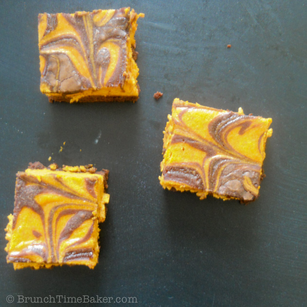 Pumpkin Cheesecake Brownies-3