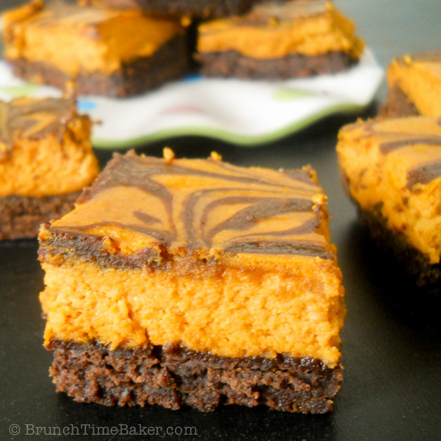 Pumpkin Cheesecake Brownies-6