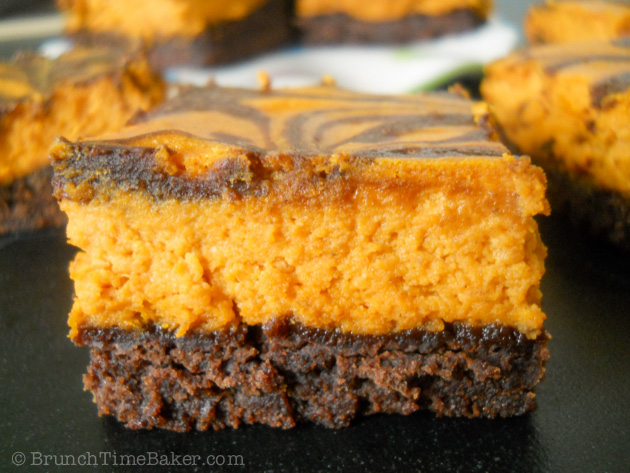 Pumpkin Cheesecake Brownies-7