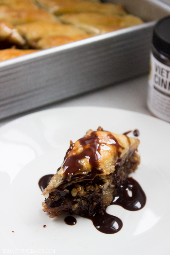 Home-Style Chocolate Baklava {Exclusive King Arthur Flour Pastry Set Giveaway $65 dollar }