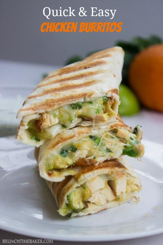 Quick and Easy Chicken Burritos