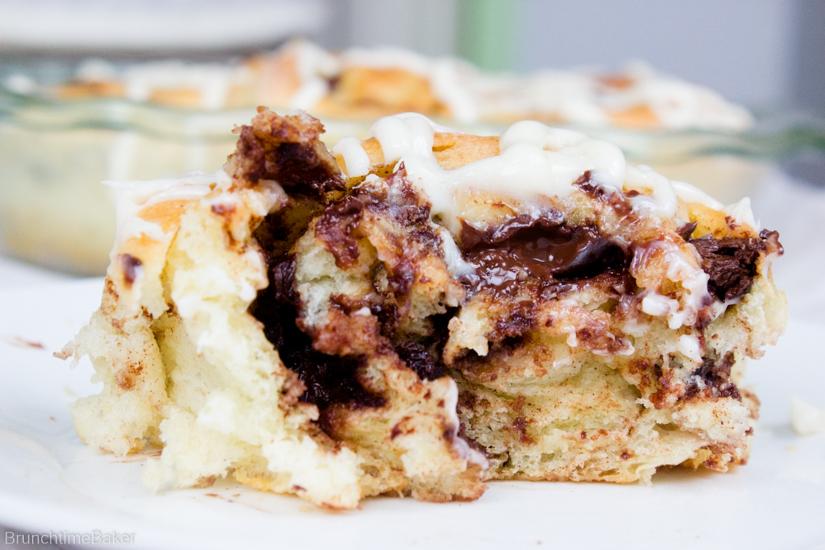 gooey chocolate cinnamon rolls