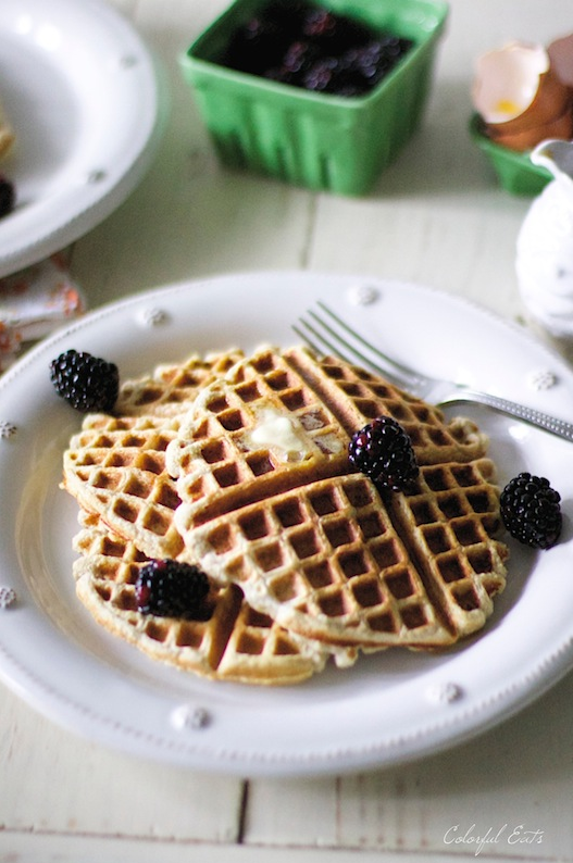Birthday Waffles {grain free, gluten free, paleo}