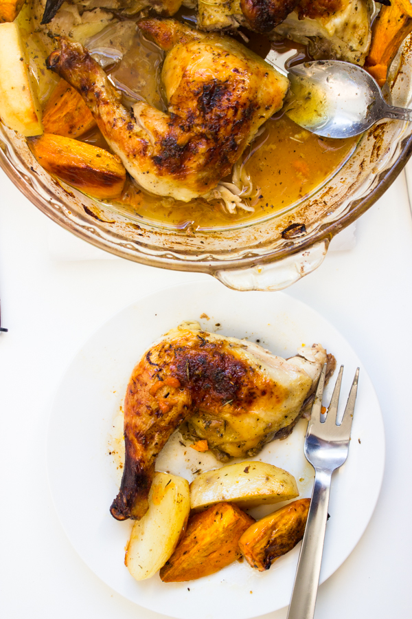 Black Pepper Maple Glaze Roasted Chicken