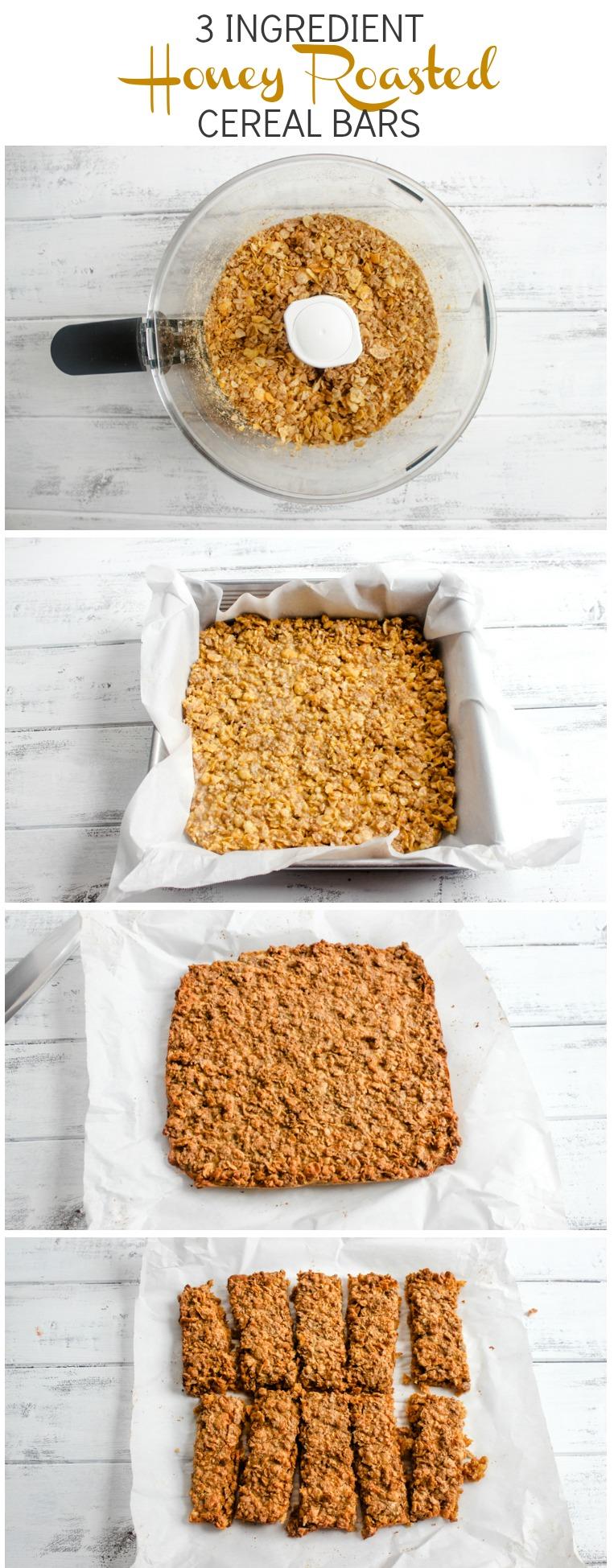 3 Ingredient Honey Roasted Cereal Bars