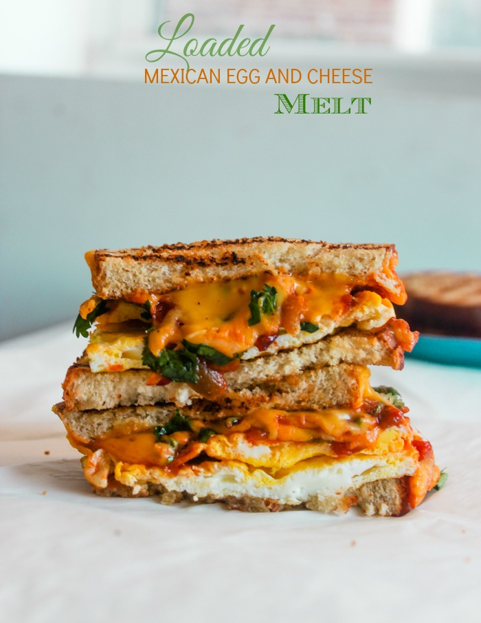 Loaded Mexican Egg and Cheese Melt