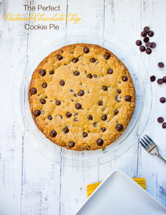 The Perfect Oatmeal Chocolate Chip Cookie Pie