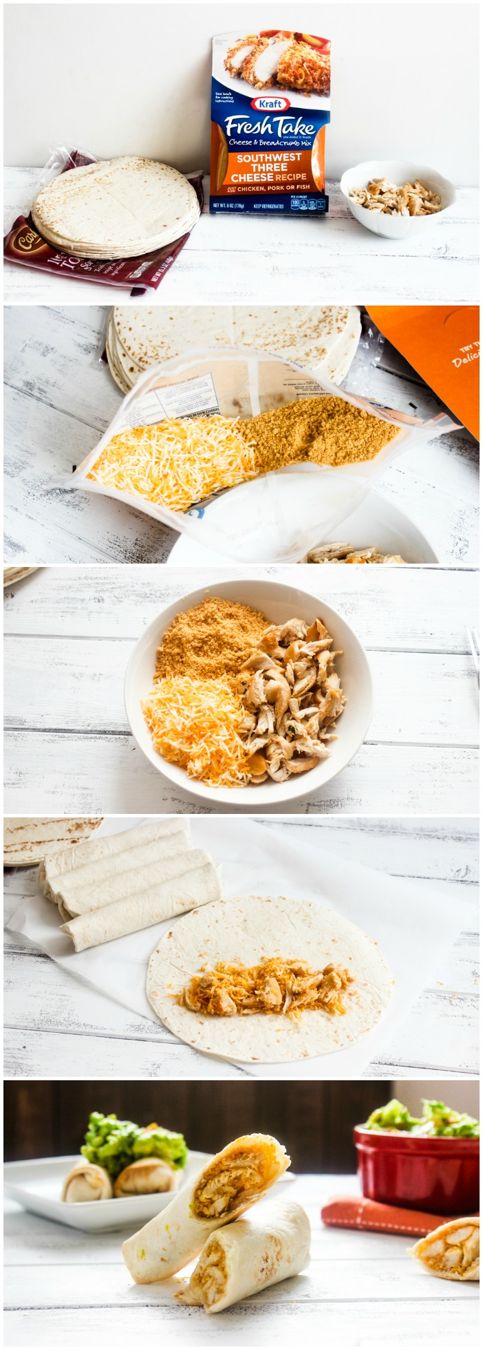 3 Ingredient Baked Southwestern Chicken and Cheese Rolls