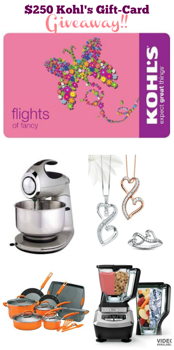 4 Weeks of Mother's Day Giveaways: $250 Kohl's Giftcard