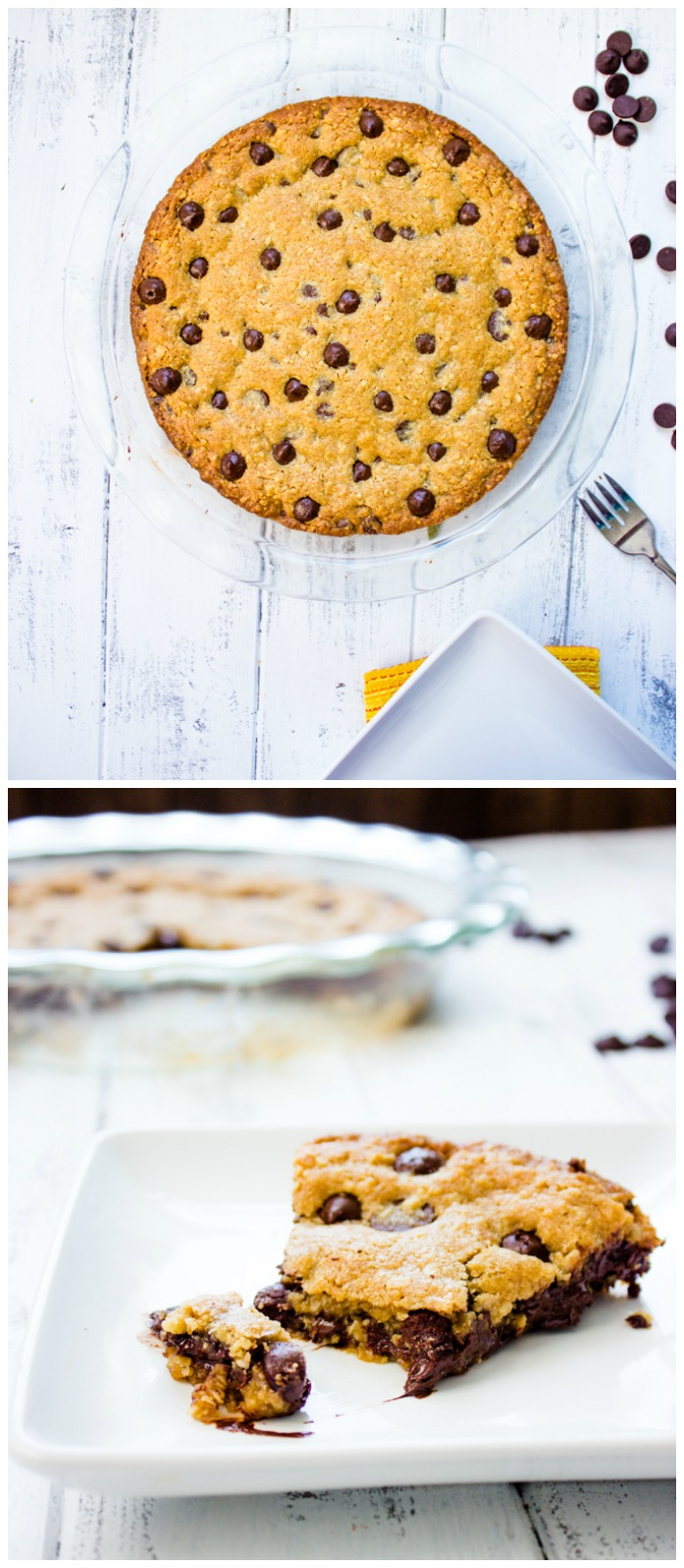 The Perfect Oatmeal Chocolate Chip Cookie Pie | Gimme Delicious
