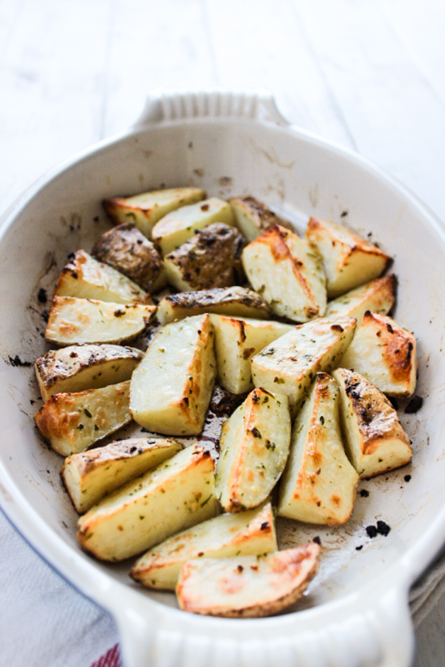 Garlic and Cilantro Roasted Potatoes