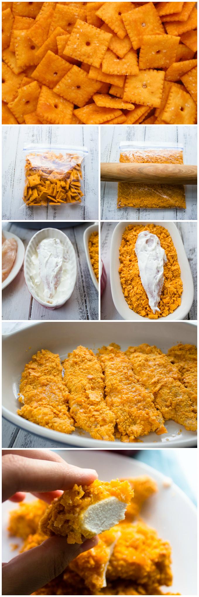 Cheese Nips Crusted Chicken Tenders