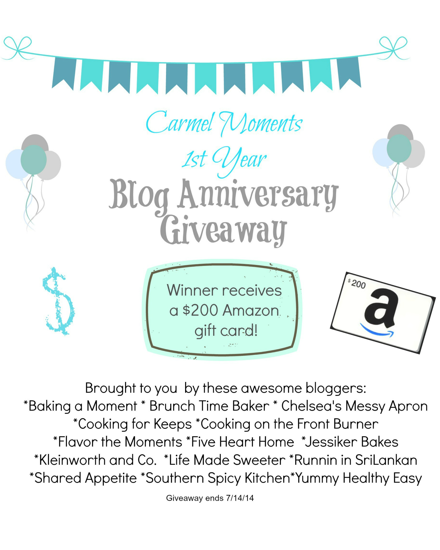 Carmel Moments Blog  Anniversary Giveaway 3