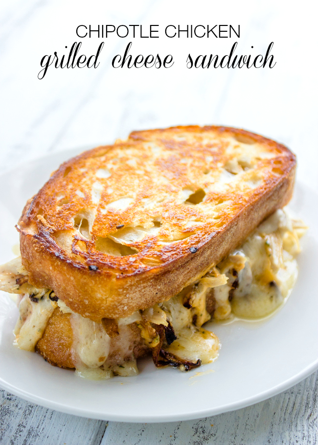 Chipotle Chicken Grilled Cheese Sandwich