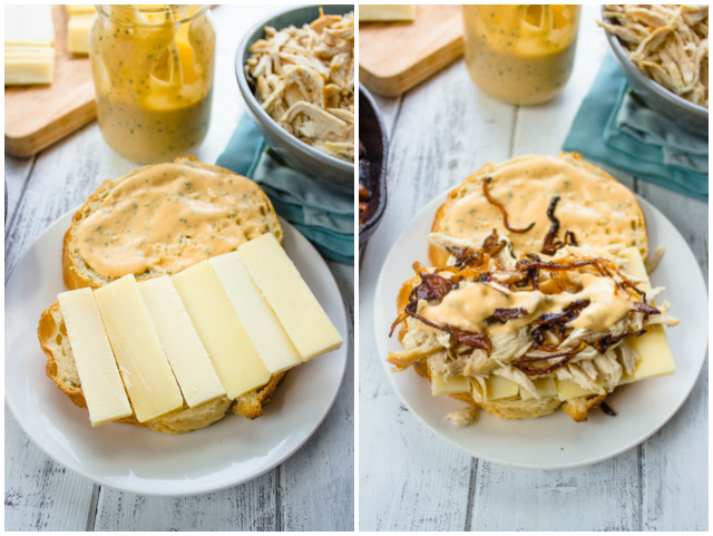 Chipotle Chicken Grilled Cheese Sandwich