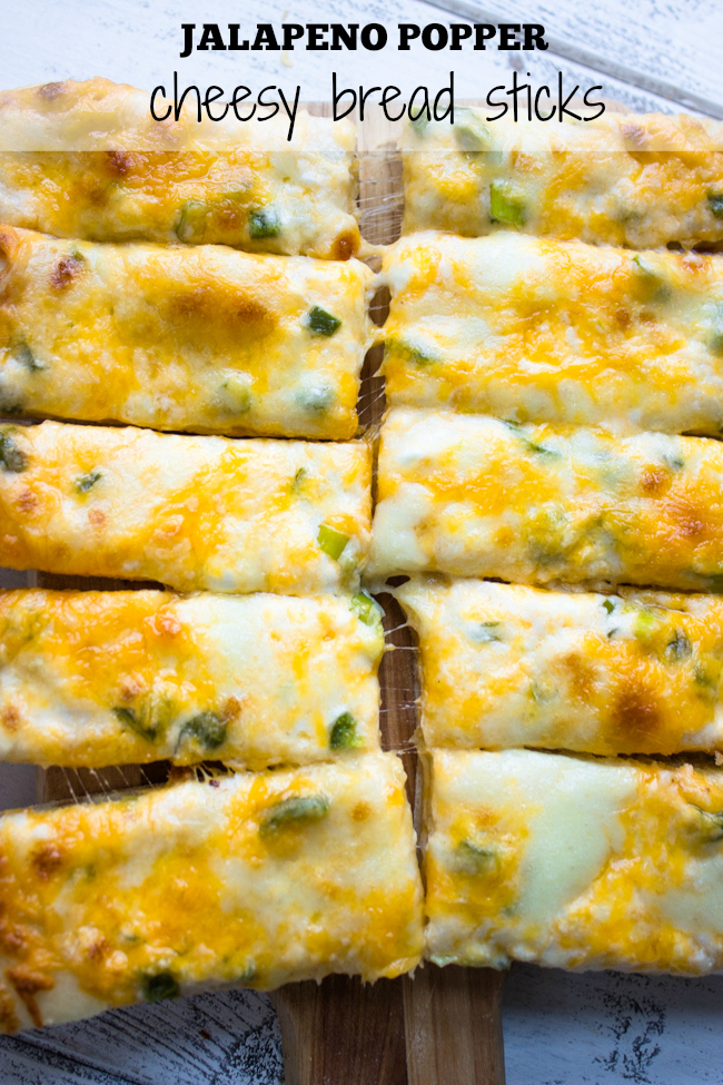 Jalapeno Popper Cheesy Bread Sticks