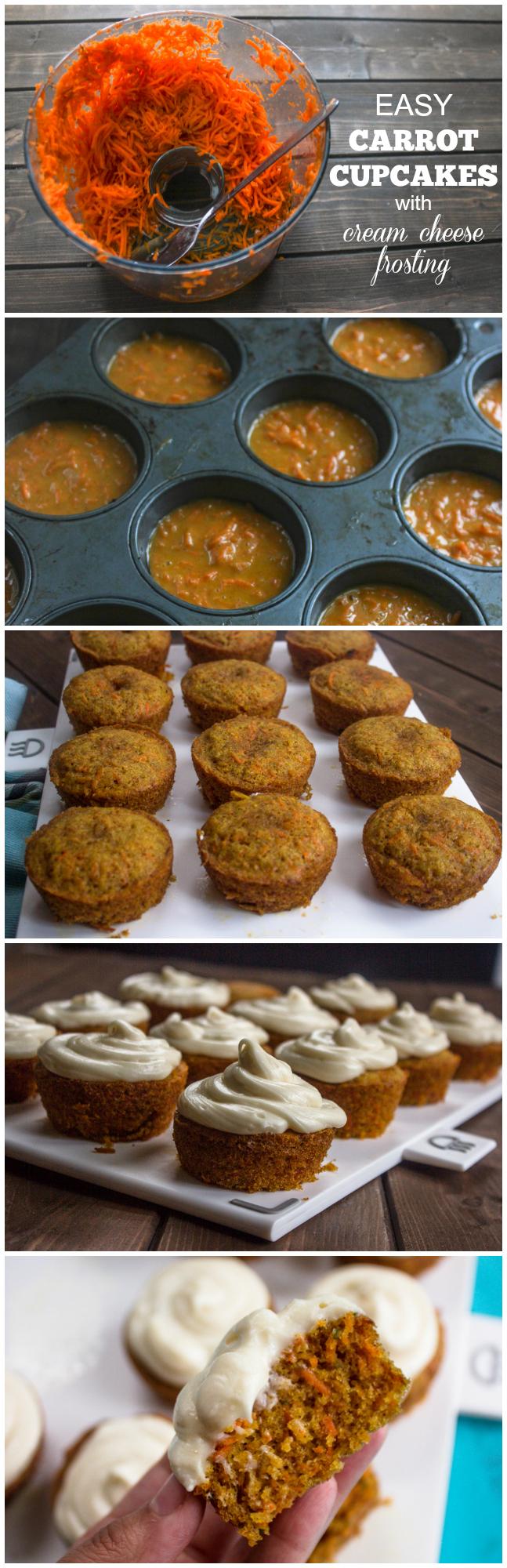 Simple carrot cake muffins recipe