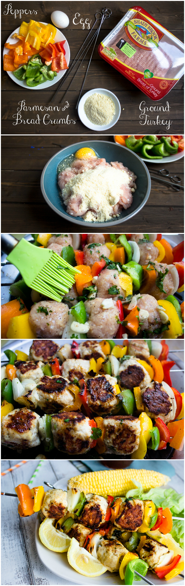 Skinny Turkey Meatball kebabs