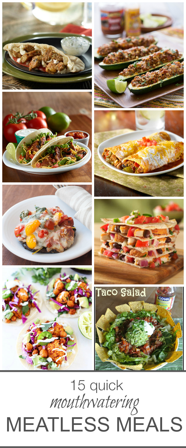 15 Quick Mouthwatering Meatless Meals