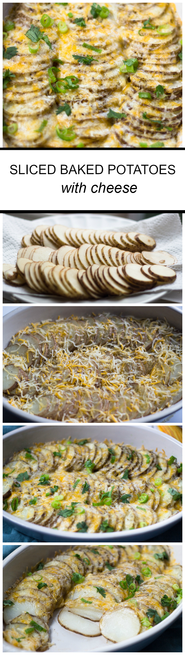 Easy Sliced Baked Potatoes with Cheese
