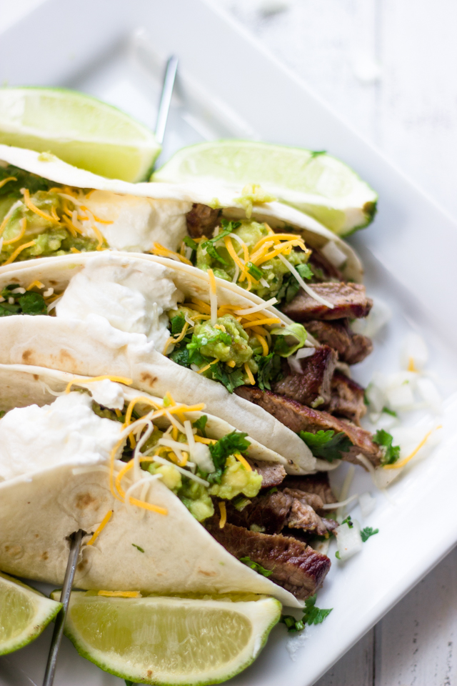 Mexican Steak Tacos With Simple Guacamole Gimme Delicious