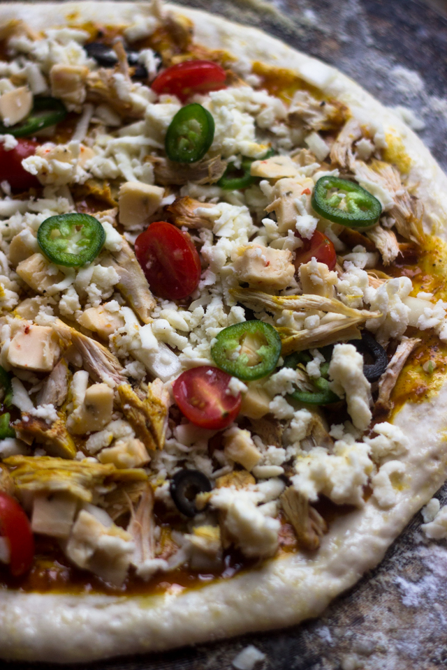 Must Try Chicken Enchilada Pizza #mexicanrecipes #spicy #dinner