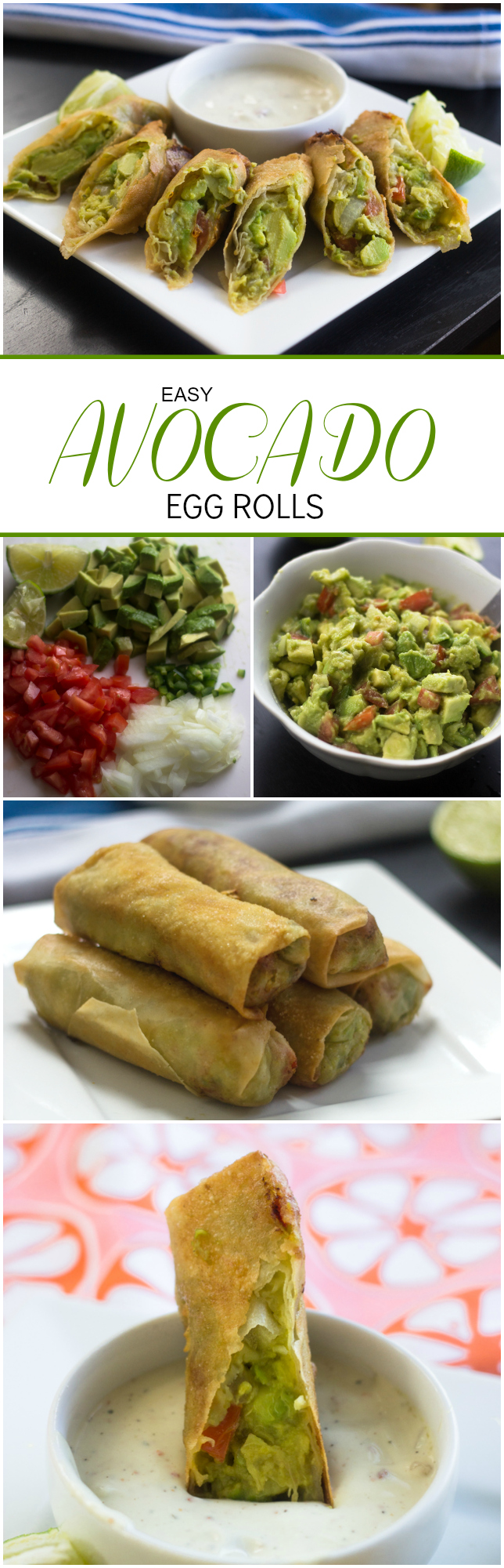 Easy Avocado Egg Rolls just like the cheesecake factory except 1000x better!!