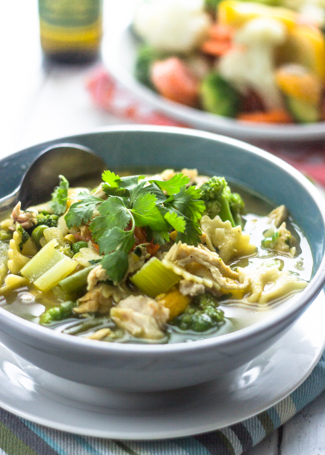 The Best Ever Vegetable Lover's Chicken Soup #healthy