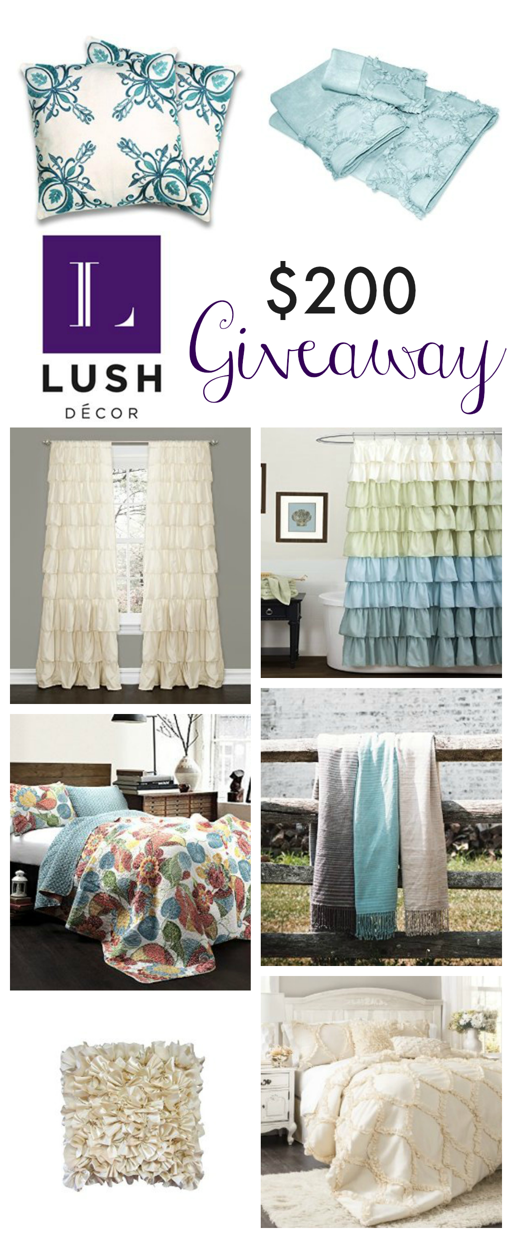 Lush Decor $200 Giveaway #win #contest #freestuff