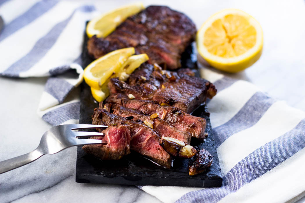 Lemon Garlic Steak (Chuck Blade)