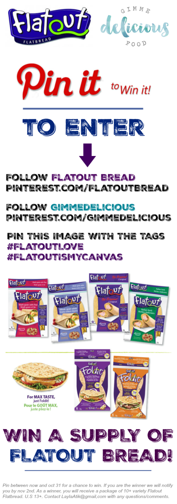 Pin it to WIN it! @FlatoutBread Giveaway!  #FlatoutLove #FlatoutIsMyCanvas