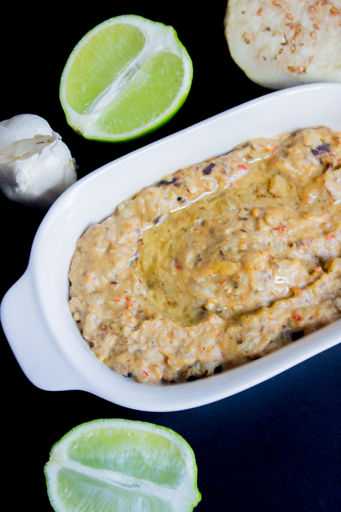 ... Grilled Garlic Lime Baba Ghanoush { Eggplant Dip } | Gimme Delicious