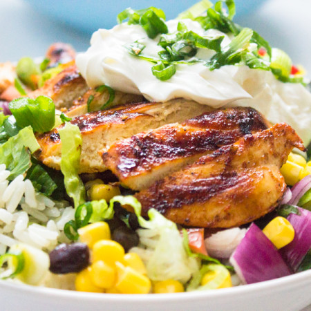 How to Make Chipotle Style Burrito Chicken Bowl-11