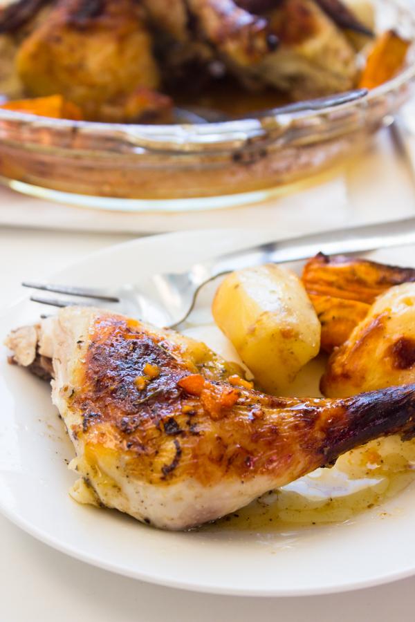 maple glazed whole chicken