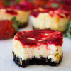 Mini Strawberry Swirl CheeseCakes_-6