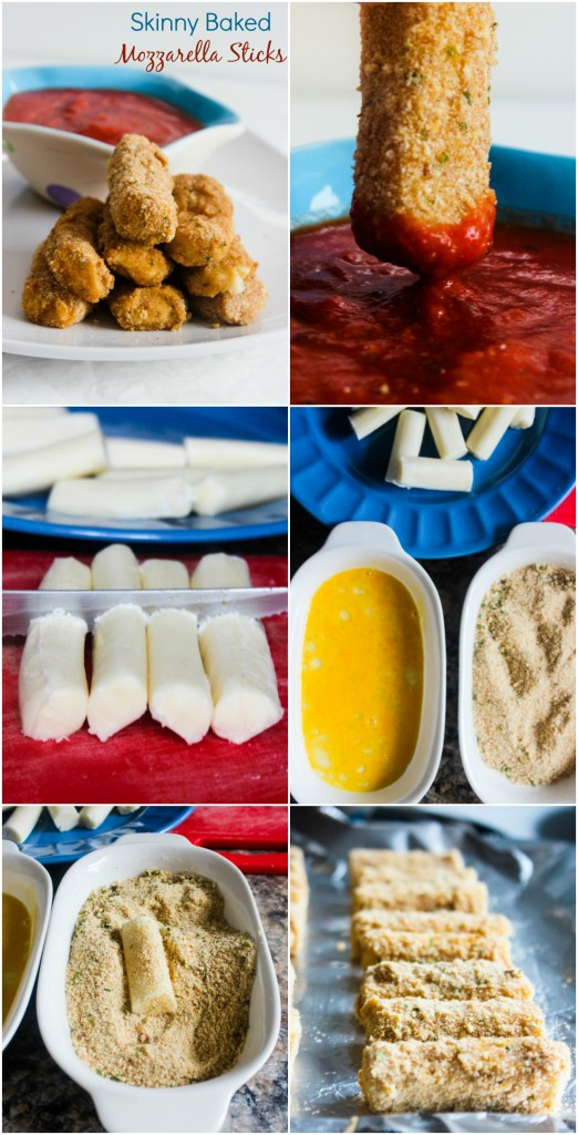 Skinny Baked Mozzarella Sticks | Gimme Delicious