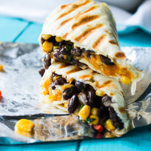 Crispy Black Bean And Rice Burritos Gimme Delicious