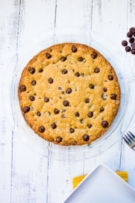 Oatmeal Chocolate Chip Cookie Pie_-3