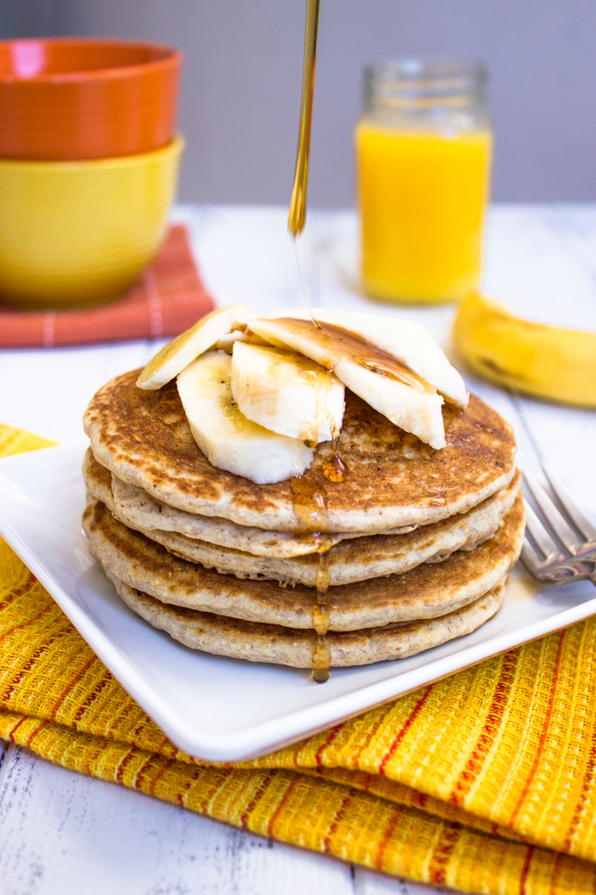 Healthy Low-fat Whole Wheat Banana Pancakes  Gimme Delicious