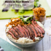 Easy Steak on Rice Bowls with Super Crispy Shoestring Fries