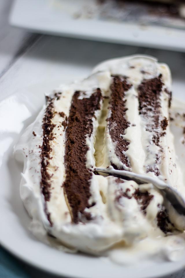 Easy Chocolate Vanilla Ice Cream Cake (with ice cream ...