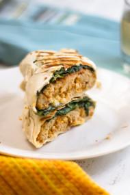 Quick & Easy Vegetarian Buffalo Chicken Wraps