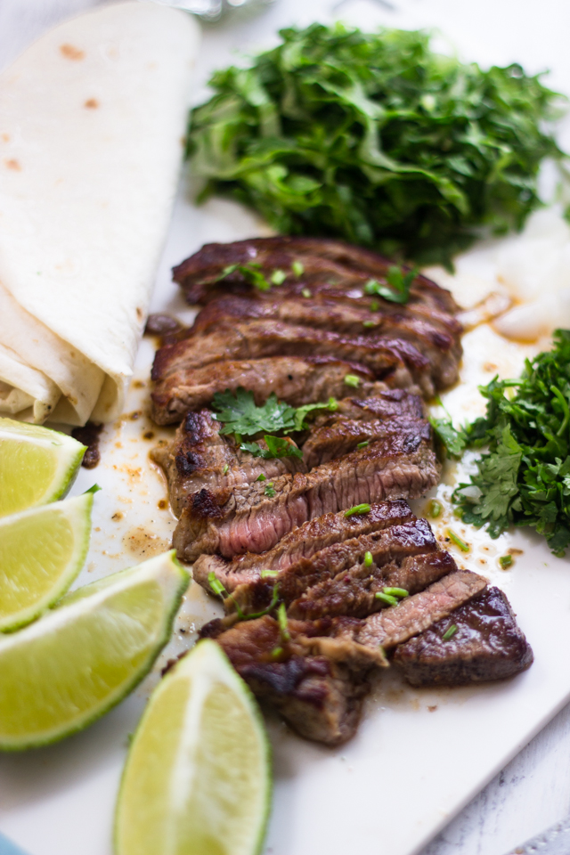 classically a skirt steak is used for steak tacos because