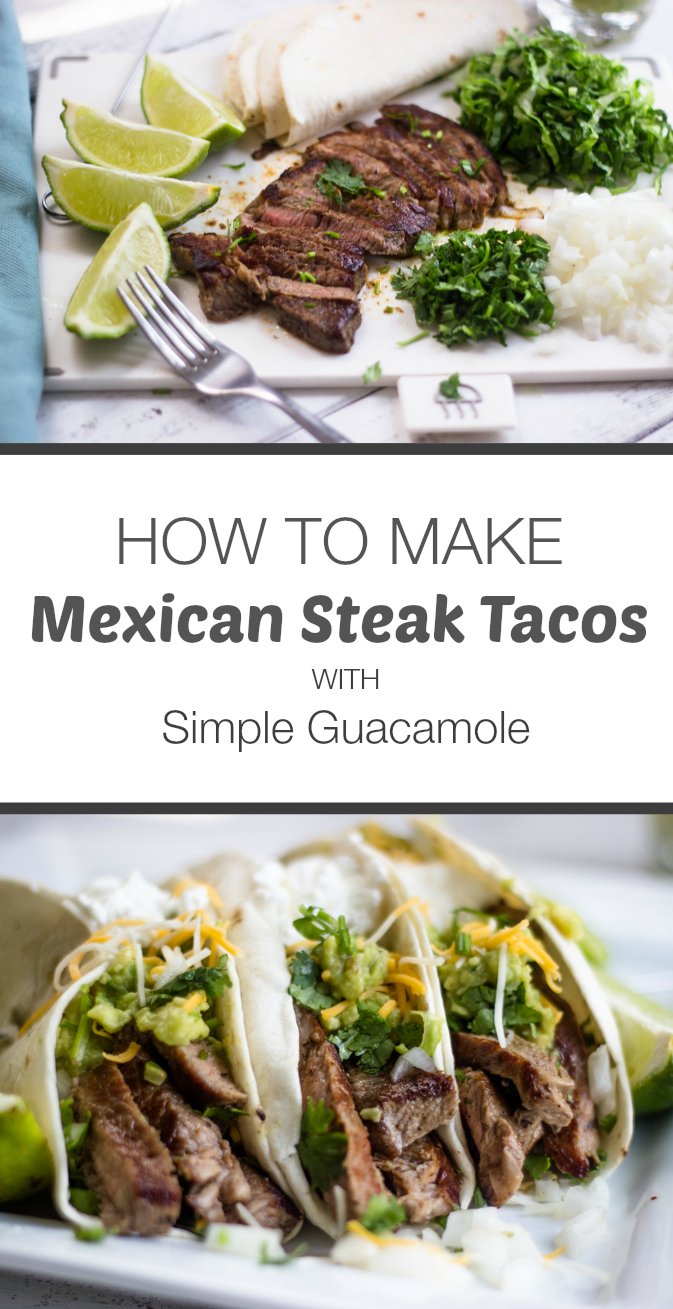 Mexican Steak Tacos with Simple Guacamole | Gimme Delicious