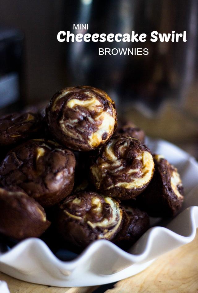 Mini Cheesecake Swirl Brownies Gimme Delicious