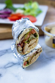 Hummus and chicken Wraps (Quick, Healthy, Adaptable)