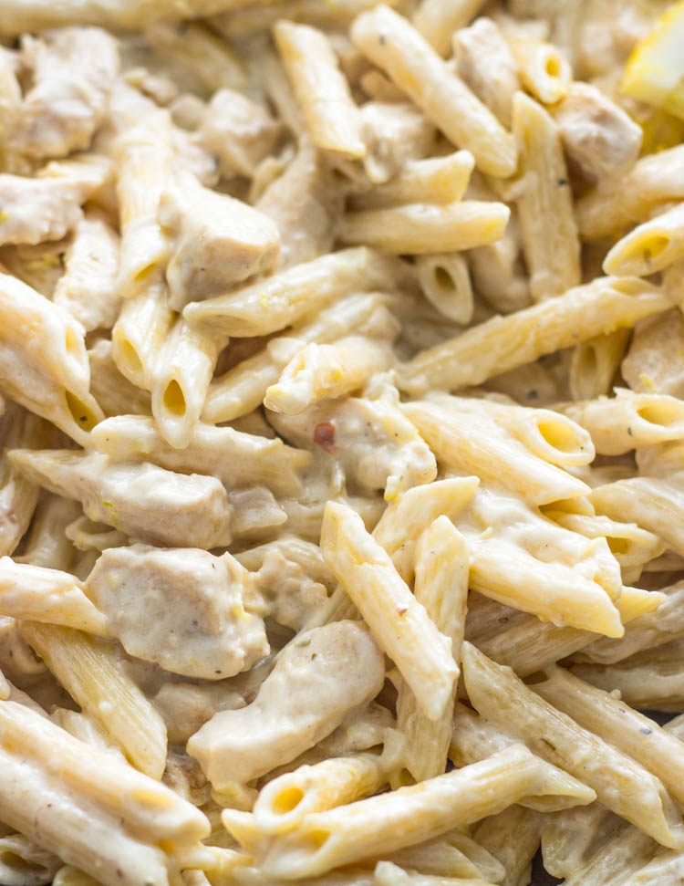 One Pot Creamy Lemon Chicken Pasta GimmeDelicious Easy Penne