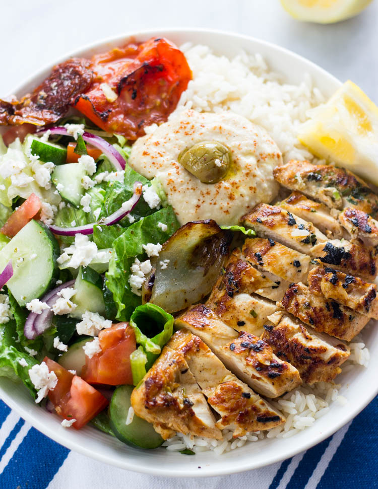 Mediterranean chicken rice bowls mediterranean chicken rice bowls forumfinder Choice Image