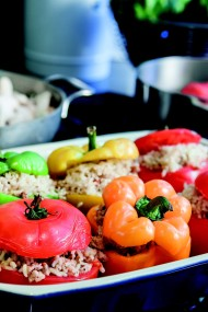 Stuffed Peppers and Tomatoes (Gemista)